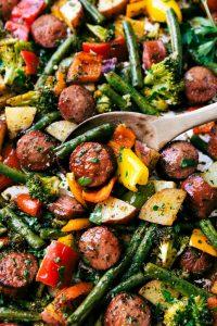 sausage-and-veggies-sheet-pan-dinne